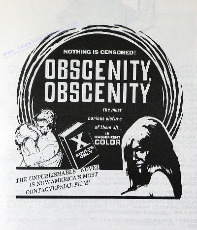 Obscenity, Obscenity