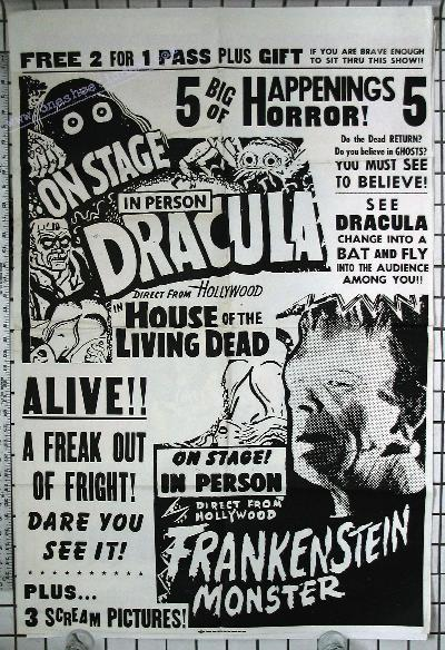 Dracula and Frankenstein Stage Show