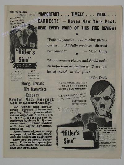 Hitler's Sins